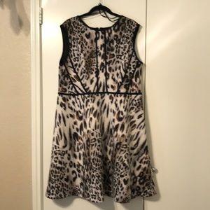 Studio One Fit & Flare Animal Print Dress SZ 18W